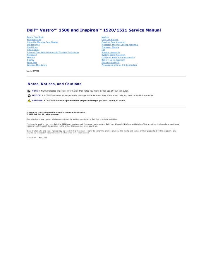 vostro 1500 pdf 66 1 77mb rh gizport jp dell vostro 1500 user manual dell vostro 1500 user guide manual